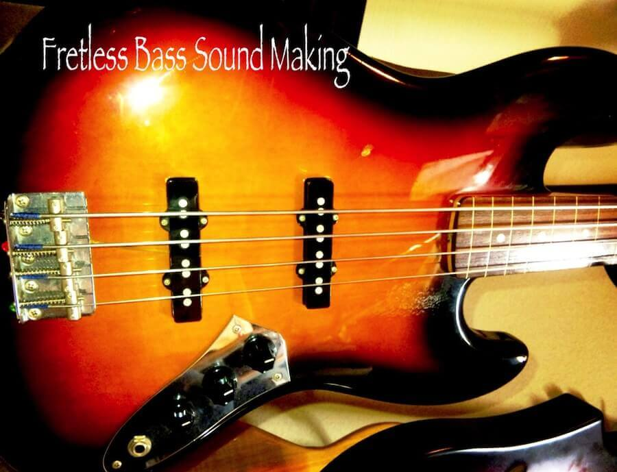 Fender Japan Fretless Jazz Bassタイトル入り