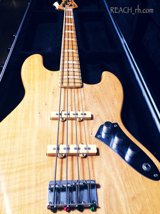 Fender Jazz Bass white ash ブリッジ側から