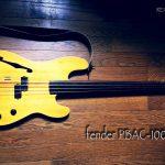 私のフレットレス fender PBAC-100FL