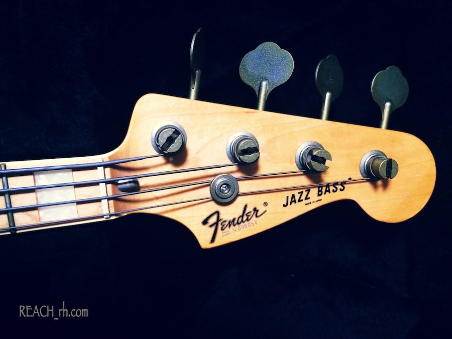 Fender Jazz Bass white ash ヘッド
