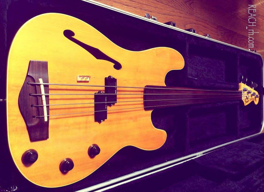 Fender PBAC-100FL ボディブリッジ側から-min