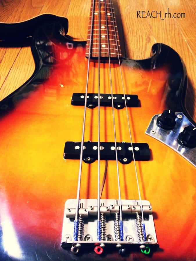Fender Jazz Bass FL ボディブリッジ側から