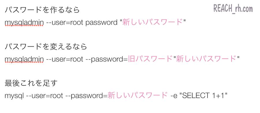 パスワードの設定、変更の書き込み