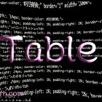 Webサイトでの簡単なテーブル(表)の作成について