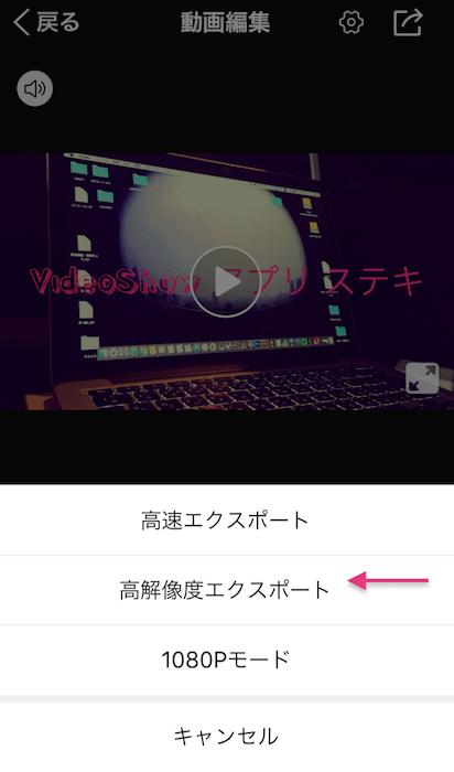 VideoShow export