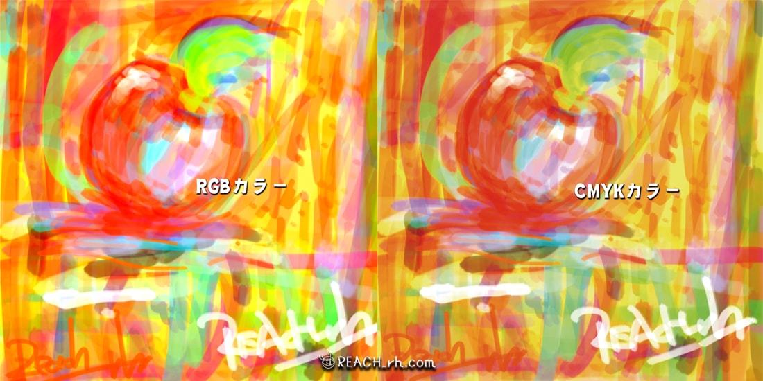 RGBカラーとCMYKカラー比較