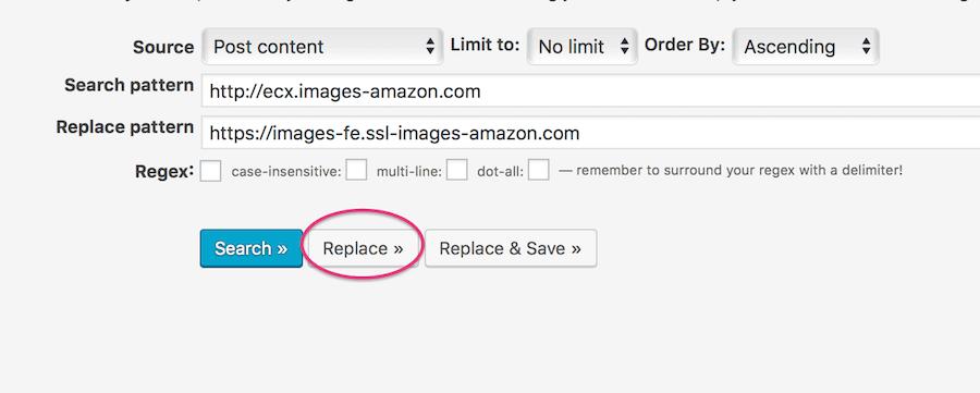 Amazonリンク検索と置換