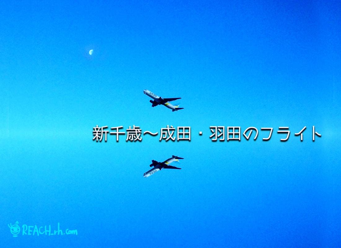 新千歳〜成田・羽田のフライト