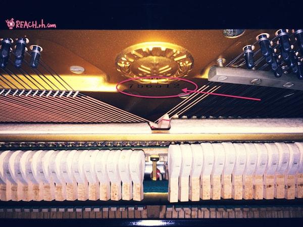 YMHピアノ製造番号