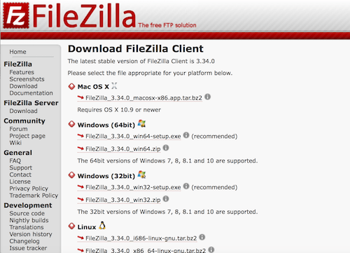 FileZilla DL