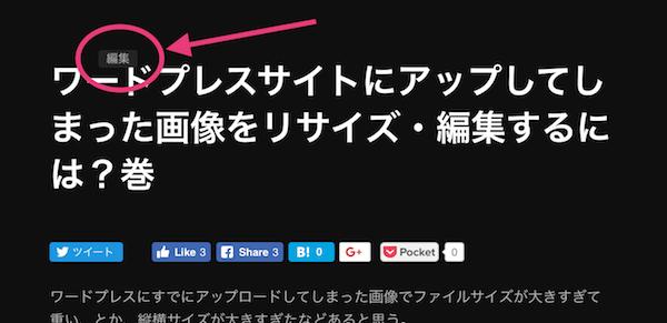 編集ボタンが記事面にあるテーマを選択