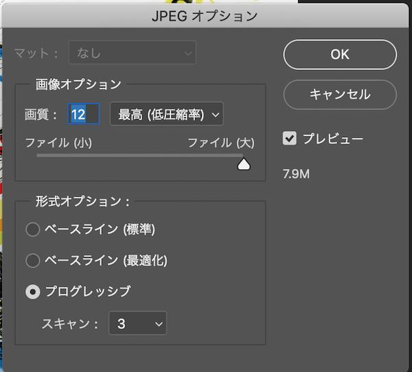 JPGオプション