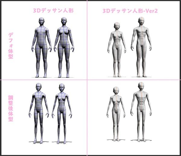 クリスタ3Dデッサン人形